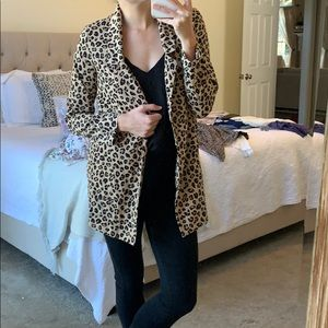 Leopard blazer - never been worn.